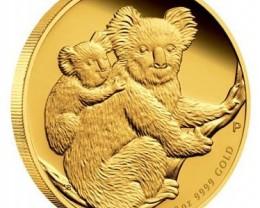 AUSTRALIAN KOALA 2008  1/10 GOLD COIN