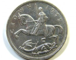 1935 ONE CROWN  SILVER COIN  OP 857