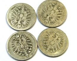 FOUR GERMAN SOLDIERS MONEY  1870s  OP858