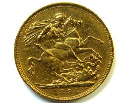 GOLD SOVERIGN  MELBOURNE MINT 1894 HIGH GRADE COIN CO7