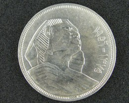 EGYPT  SILVER COIN    1956    OP 894