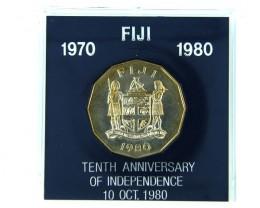 FIJI 1980 COIN IN BLACK BOX    OP 906