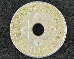 PAPUA NEW GUINEA  THREE PENCE  1944              OP936