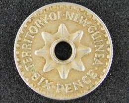 PAPUA NEW GUINEA  THREE PENCE  1943             OP937