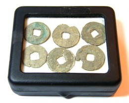 6 CHINESE SHIPWRECK COINS OVER 800 YEARS OLD   OP968