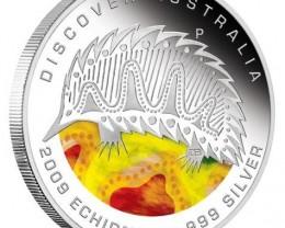 Discover Australia 2009 Dreaming – Echidna 1oz Silver Coin