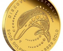 Discover Australia 2009 Dreaming Dolphin  1/10oz