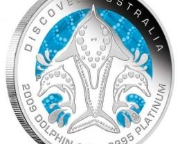 Discover Australia 2009 Dreaming Dolphin 1/2oz  PLATINUM