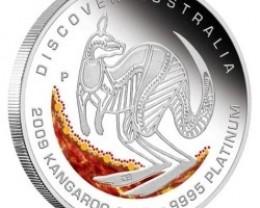 Discover Australia 2009 Dreaming – Kangaroo  1/10oz  PLATINU