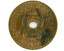 ONE PENNY  PAPUA NEW GUINEA    1936       OP 973