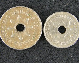 PAPUA NEW GUINEA   1943 SIX PENCE ,1944 THREE PENCE OP975