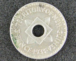 PAPUA NEW GUINEA   ,1935 THREE PENCE  OP984