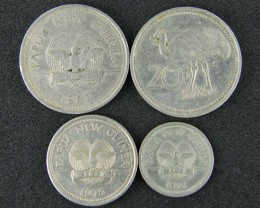 FOUR PAPUA NEW GUINEA  COINS 1970-80S     OP 1013