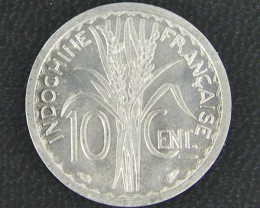 UNC INDO CHINA10 CENT COIN    1945   OP 910