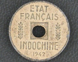 INDO CHINA 1/4 CENT  COIN   1942     OP 930