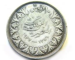 EGYPT SILVER COIN OP 970