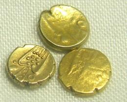 3 INDIA GOLD COIN MED  PURITY FANAMS 17-18TH CENT  OP 1101