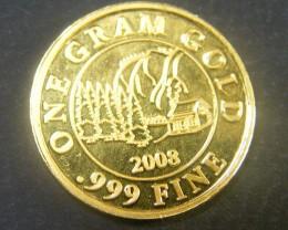 2008 1 GRAM .999 FINE GOLD BULLION COIN  OP 1132