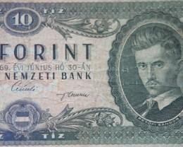 Hungary Tíz (10) Forint 1969 Petőfi Sándor