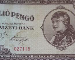 Hungary Százmillió (100.000.000) Pengő 1946