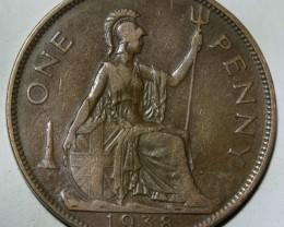 United Kingdom 1 Penny-George VI. 1938 KM#845