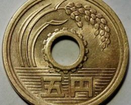 Japan 5 Yen-Showa 38 (1963) Y#72a