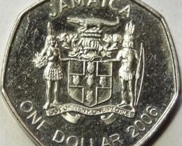 Jamaica 1 Dollar 2006 KM#164