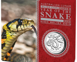 Proof Lunar Series II 2013 Year of the Snake 1oz Silver Coin