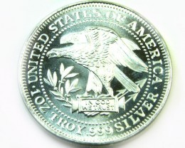 1981 SILVER UNIT TRADE DOLLAR COIN CO383a