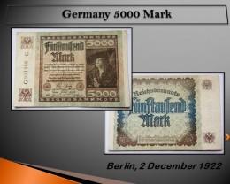Germany 5000 Mark 1922