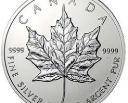 2002 Canadian Silver Maple Leaf 1oz 999.9 Fine Silver