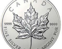 2002 Canadian Silver Maple Leaf 1oz 999.9 Fine Silver