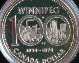 1974 Canadin .500 Silver Winnipeg coin