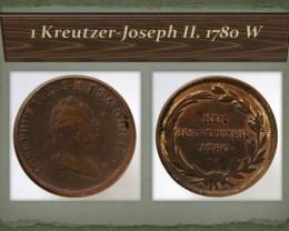 Austria 1 Kreutzer-Joseph II. 1780 W KM#2056