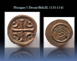Hungary 1 Denár-Béla II. 1131-1141 EH#52