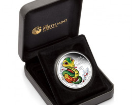 PROOF 2013 BABY SNAKE 1/2  SILVER COIN