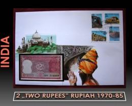India 2 Rupiah 1970-85 UNC