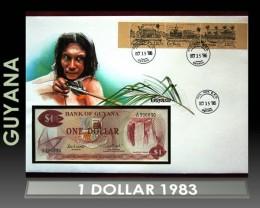 Guyana 1 Dollar 1983 UNC