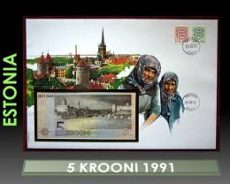 Estonia 5 Krooni 1991 UNC