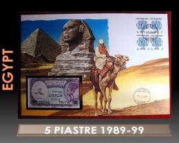 Egypt 5 Piastre 1989-99 UNC