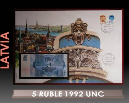Latvia 5 Ruble 1992 UNC