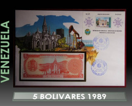 Venezuela 5 Bolivares 1989 UNC