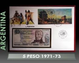 Argentina 5 Peso 1971-73 UNC