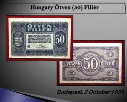 Hungary Ötven (50) Fillér 1920 !!
