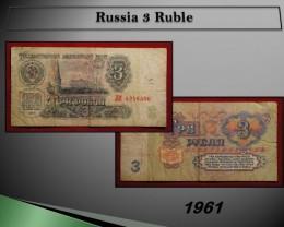 Russia 3 Ruble 1961
