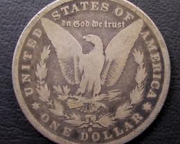 1880 MORGAN DOLLAR SILVER COIN   CO 1602