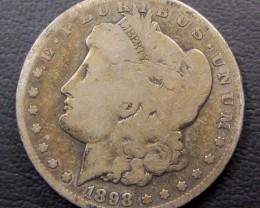 1898 MORGAN DOLLAR SILVER COIN   CO 1607