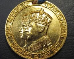 1937 MEDALLION CANADA FEAR GOD HONOUR THE KING   CO 1637