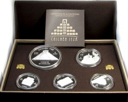 10 OZ Silver 2012 Chichen Itza Proof Coin Series Set