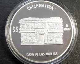 1 OZ Silver 2012 Chichen Itza Proof Coin Nunnery